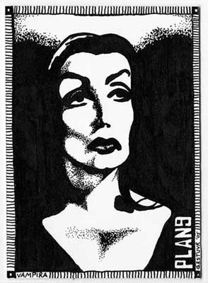 Vampira- from the movie Plan 9 From Outer Space